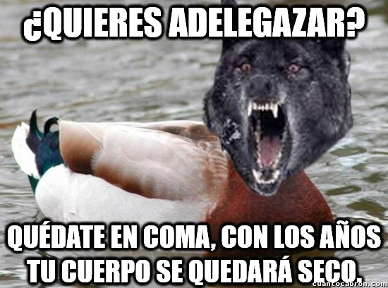 Meme_mix - Nunca hagas caso a un pato con cabeza de lobo demente