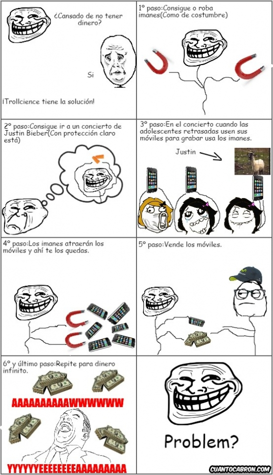 Trollface - Trollscience no aprobada por believers