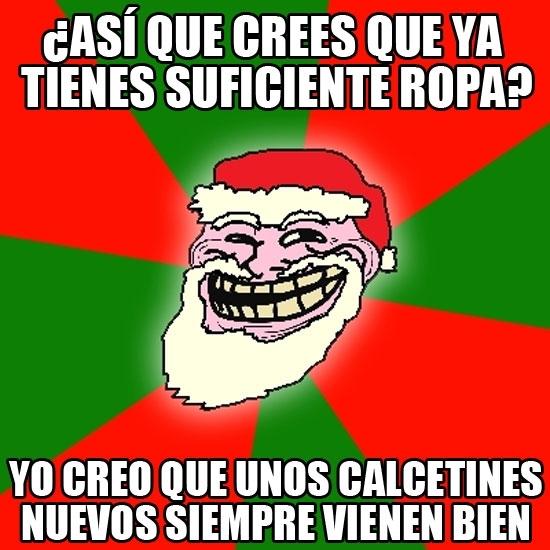 Meme_trollface - Y Papá Noel siempre trolleando