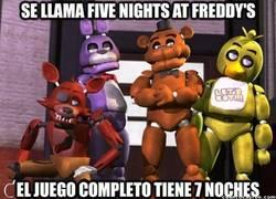 Enlace a Será que Seven Nights at Freddy's no queda tan bien, ¿verdad?