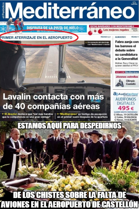Meme_otros - Aterriza el primer avión en el aeropuerto de Castellón