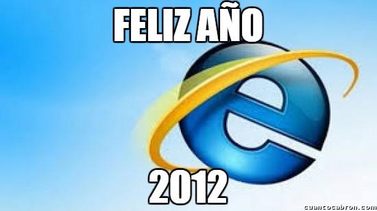 Meme_otros - ¡Feliz año de parte de Internet Explorer!
