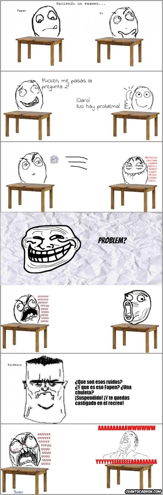 Trollface - Hay amigos a los que es mejor no preguntar nada en un examen