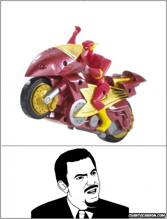 Are_you_serious - Flash con una moto es igual de inútil que Superman con un avión