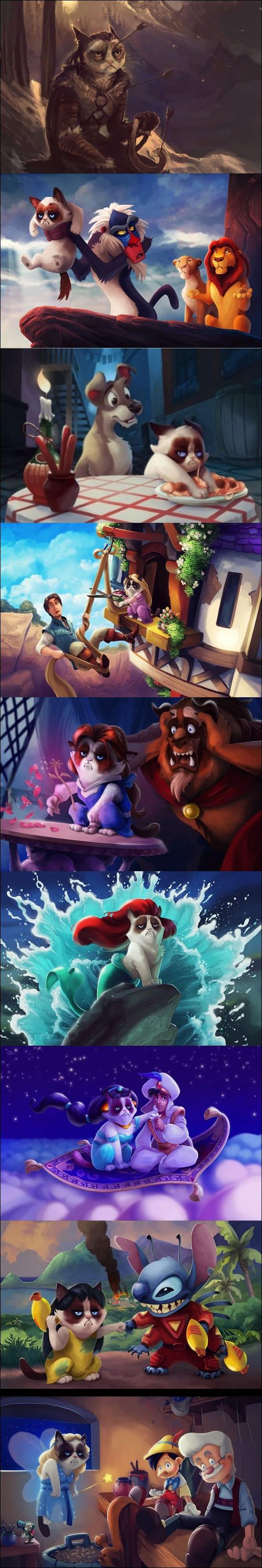 Grumpy_cat - Grumpy no sería el mejor prota de una peli Disney