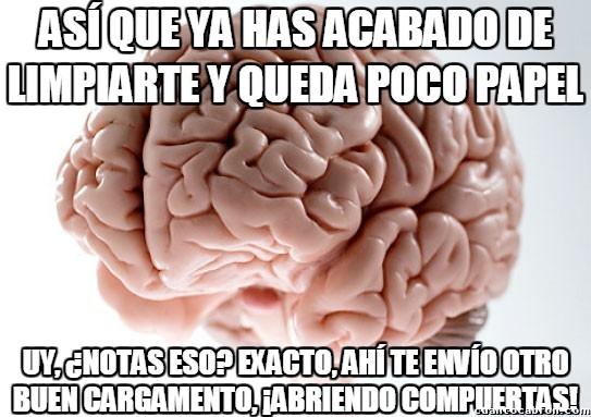 Cerebro_troll - El cerebro troll sabe ayudarte cuando estás en el retrete