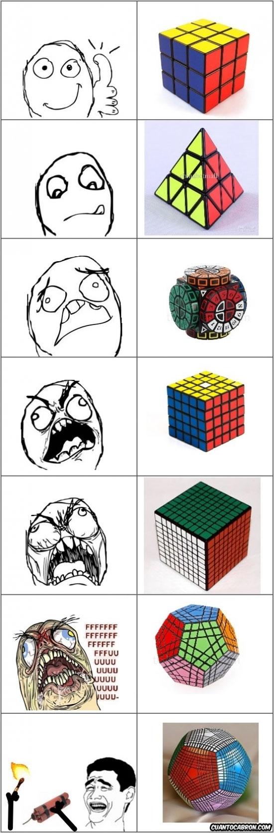 Ffffuuuuuuuuuu - Lo del cubo de Rubik se nos ha ido por completo de las manos