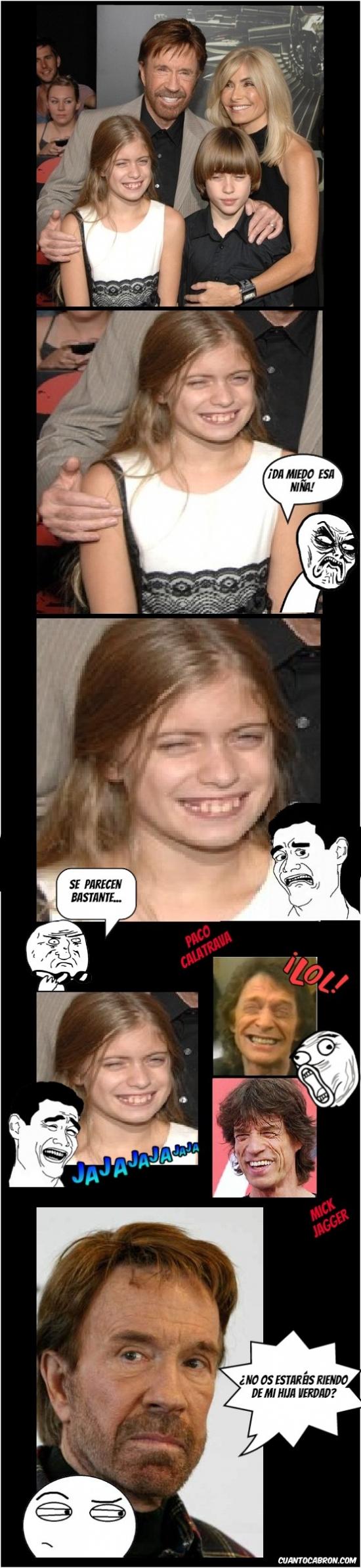 Otros - La hija de Chuck Norris y sus horrendos parecidos