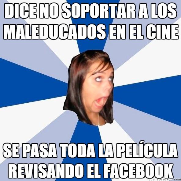 Amiga_facebook_molesta - Los maleducados en el cine