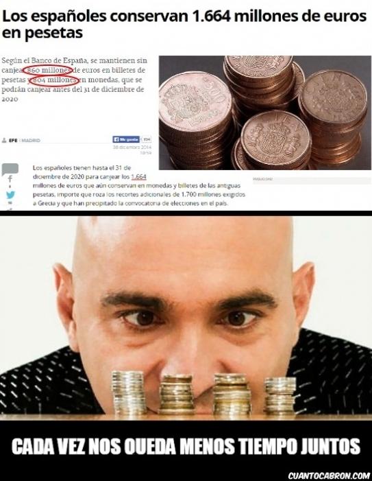 Colega_rata - Pobres pesetas olvidadas...