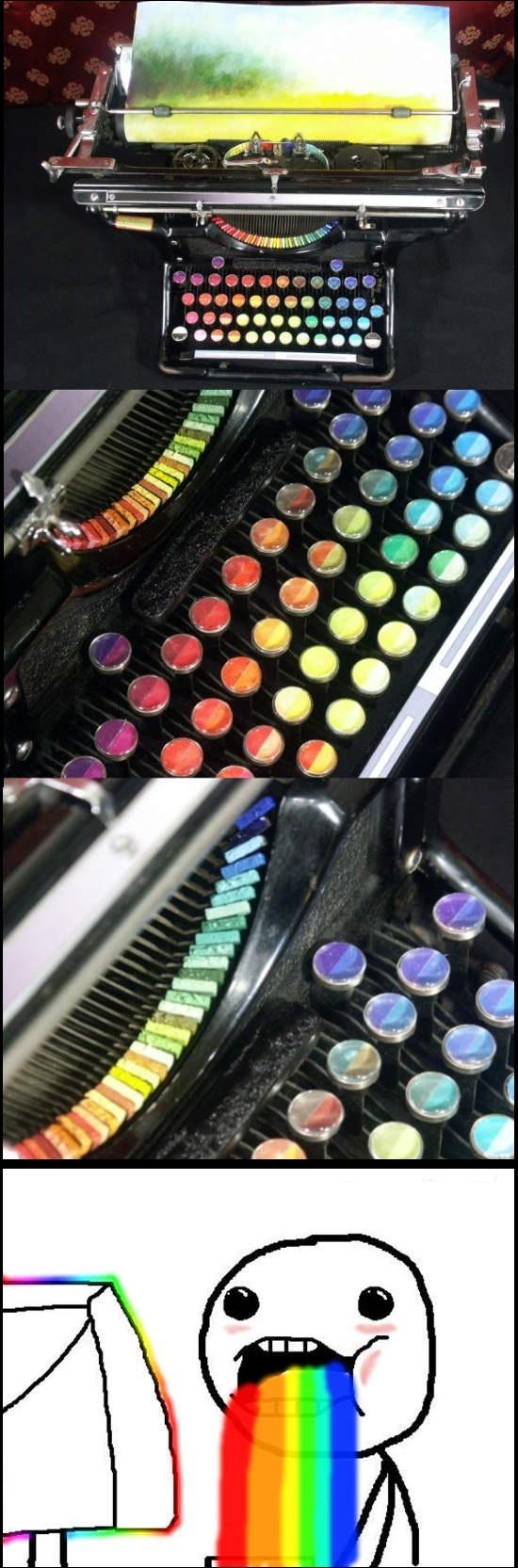 Puke_rainbows - La máquina de escribir de Puke Rainbows