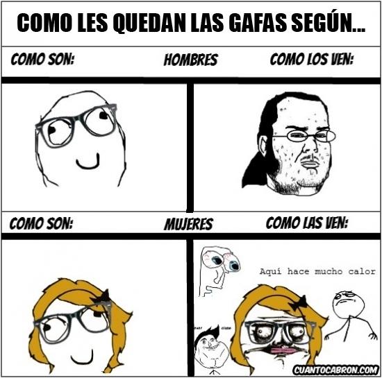 Me_gusta - Las gafas no provocan el mismo efecto en todas las personas