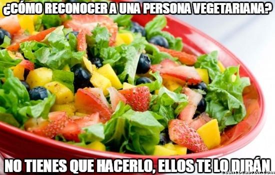 Meme_otros - Reconocer a un vegetariano es muy fácil hoy en día