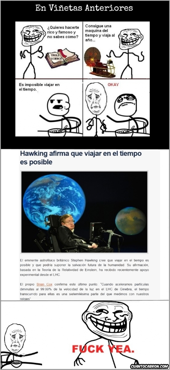 Fuck_yea - Parece que Stephen Hawking es un buen aliado de Trollface