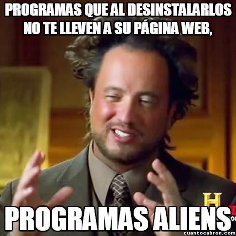 Ancient_aliens - ¡No quiero ir a vuestra estúpida web, programadores!