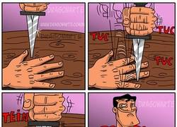 Enlace a Así cualquiera juega a eso del cuchillo y la mano abierta