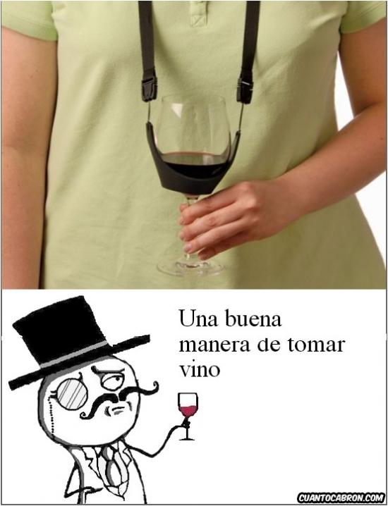 Feel_like_a_sir - Para los que no pueden soltar la copa de vino en todo el día...