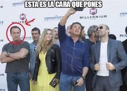 Enlace a Arnold Schwarzenegger sabe lo qué se siente cuando no cuentan contigo para un selfie