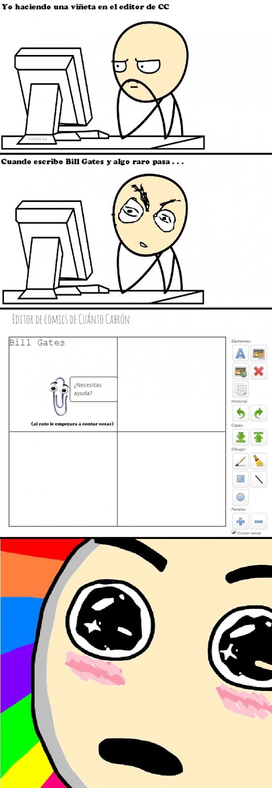 Amazed - ¿Has intentado hacer una viñeta en el editor de CC escribiendo ''Bill Gates''?