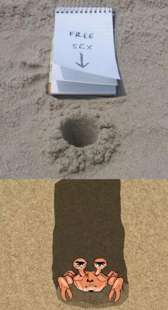 Otros - Nunca te fíes de un agujero abierto en mitad de la playa