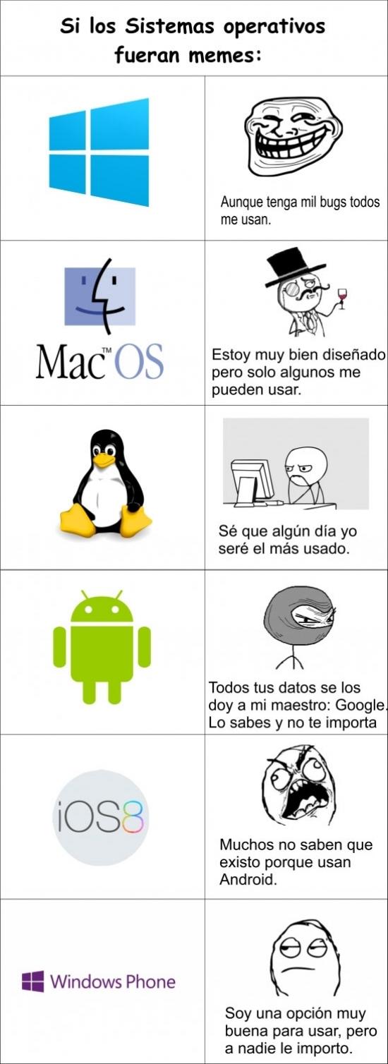 Mix - Si los sistemas operativos fueran memes...