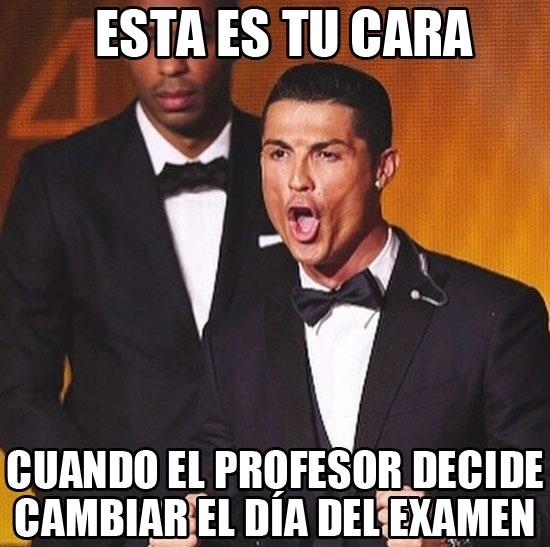 Meme_otros - Cristiano Ronaldo y su careto en la gala del Balón de Oro dan para meme