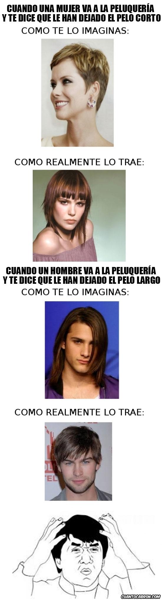 Mujeres con pelo largo memes