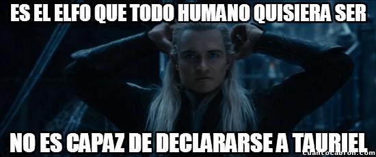 Meme_otros - Légolas, el elfo poco seguro de sí mismo