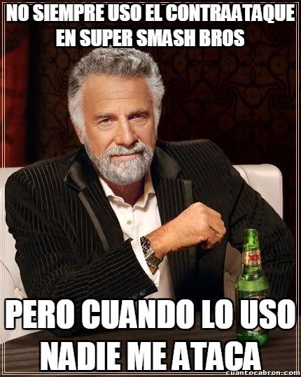 El_hombre_mas_interesante_del_mundo - El contraataque en Super Smash Bros