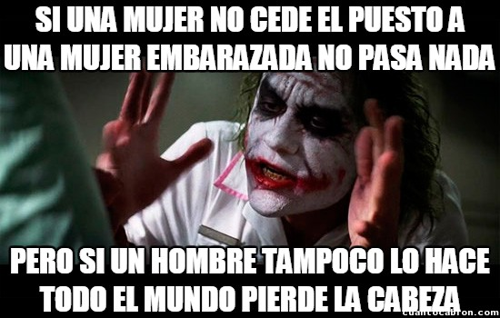 Joker - Igualdad y caballerosidad son cosas incompatibles