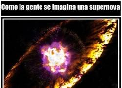 Enlace a No todos entendemos lo mismo al pensar en una supernova