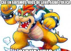 Enlace a No hace falta que Mario se esfuerce demasiado, Bowser es inmortal