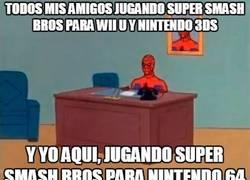 Enlace a Todos jugando al nuevo Super Smash Bros, mientras yo...