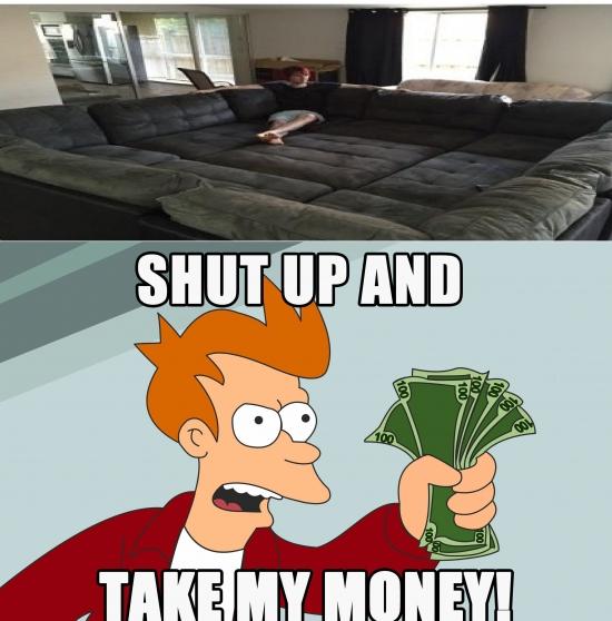 Fry - ¡Quiero ese sofá para mi casa!