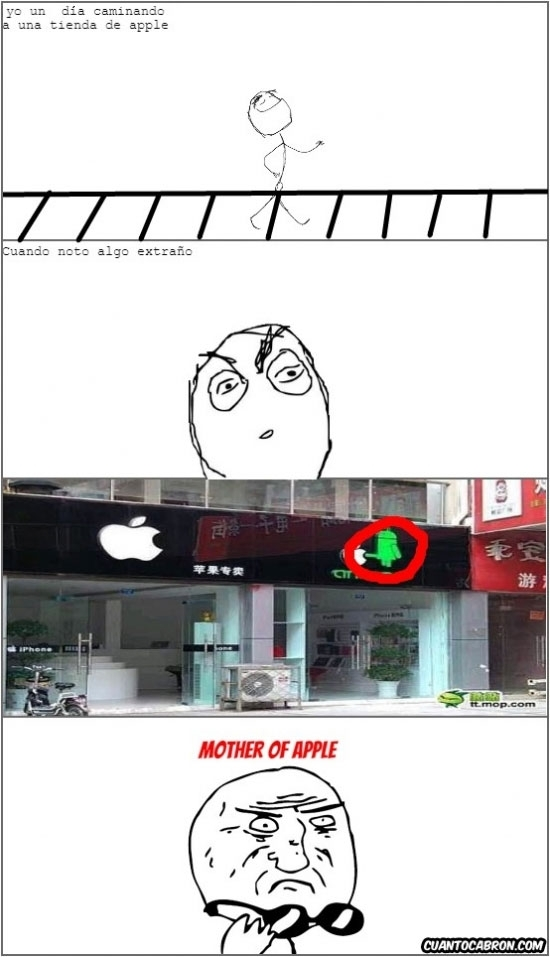 Mother_of_god - Trolleando a la tienda Apple vecina