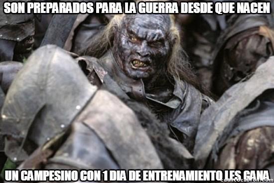 Meme_otros - Orcos y su desafortunado destino