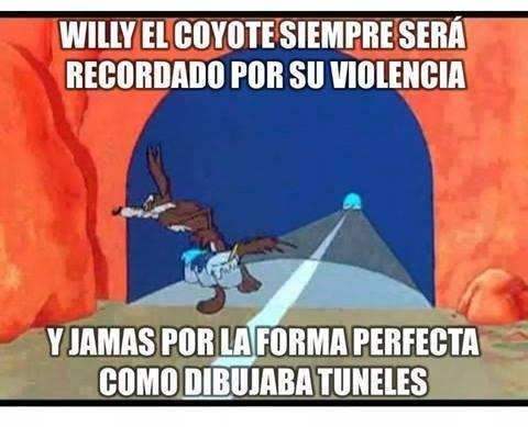 Meme_otros - El pobre Coyote pudo haber sido un gran artista de no ser por ese estúpido pajarraco