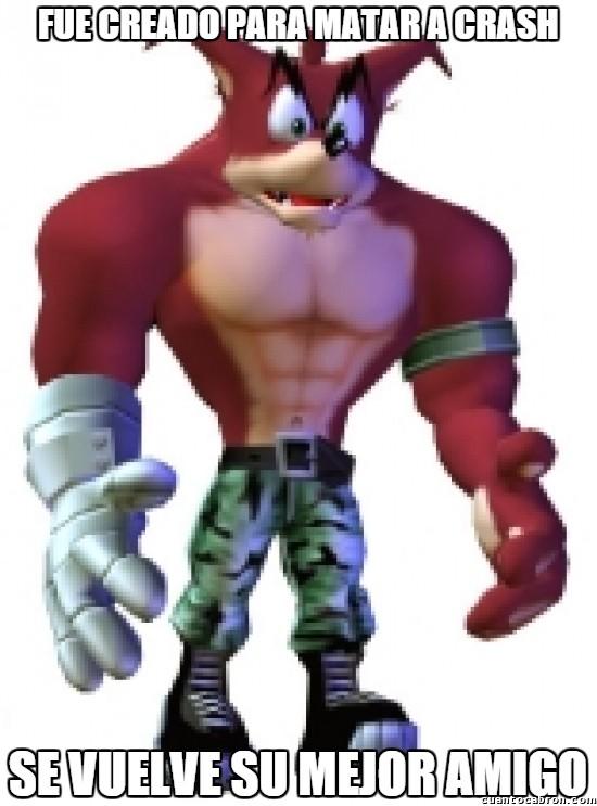 Meme_otros - El inesperado mejor amigo de Crash Bandicoot