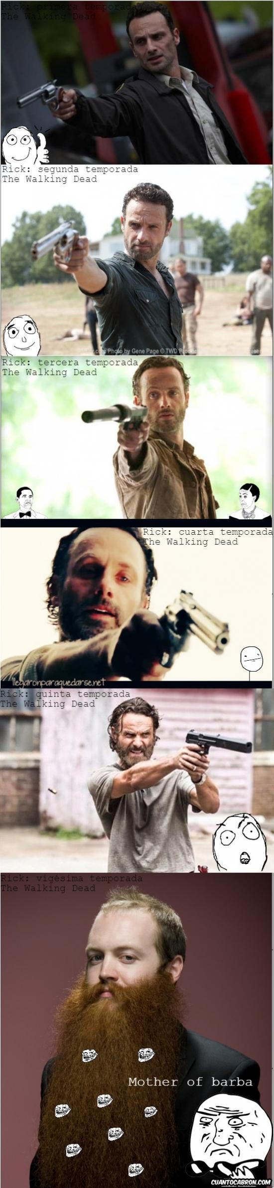 Mother_of_god - Alguien debería hacer algo con la barba de Rick en The Walking Dead