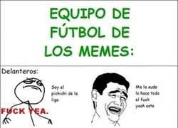 Enlace a Equipo de fútbol de los memes