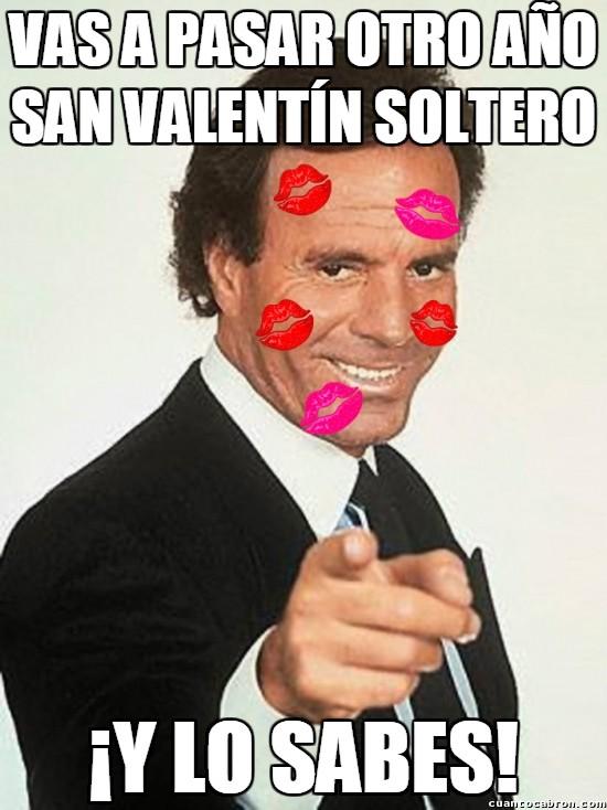 Meme_otros - Julio Iglesias como siempre recordándonos nuestra soltería