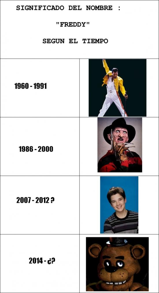 Otros - Lo que se entiende por Freddy depende de la época