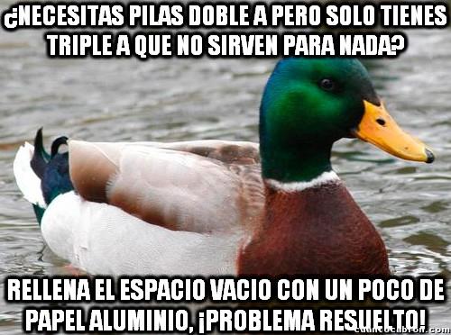 Pato_consejero - Un buen truco para usar las pilas triple A