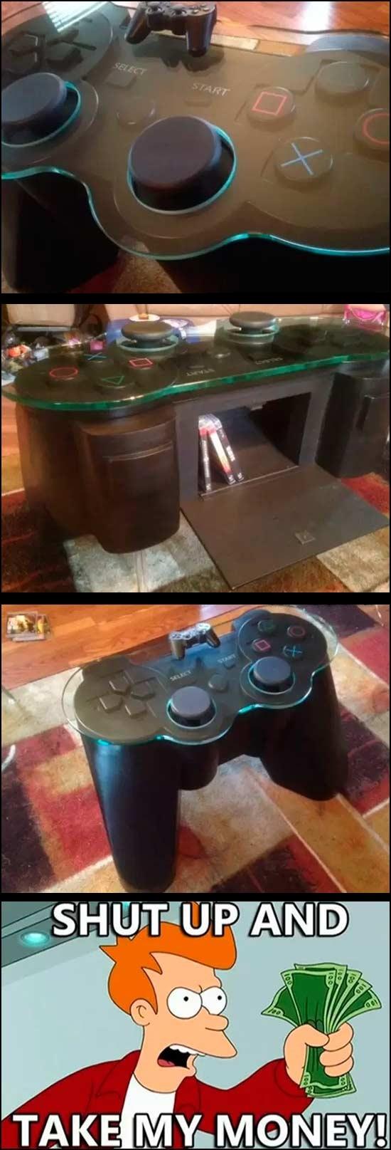control,grande,mando,mesa,perfecta para frikis,playstation