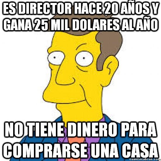 Meme_otros - La lamentable situación económica del director Skinner