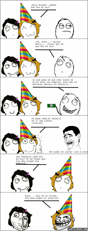 Trollface - No se puede ir por la vida olvidándose de los cumpleaños de la gente