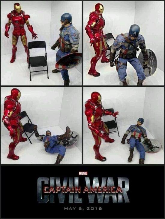 Otros - Si es que Iron Man y el Capitán América nunca se han llevado demasiado bien