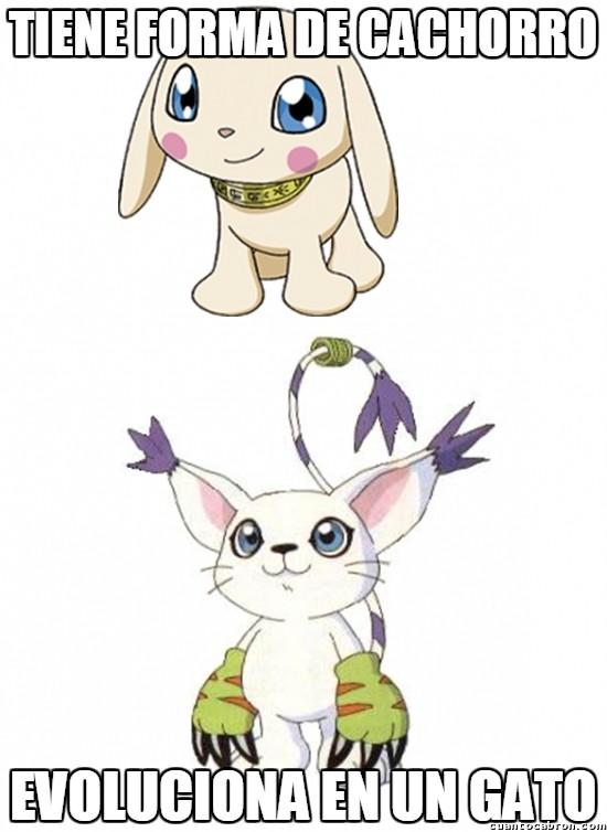 Meme_otros - Digimon se pasa la lógica por dónde yo te diga