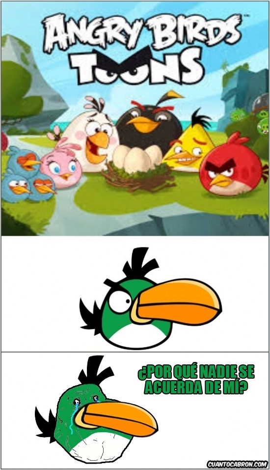 Forever_alone - Hasta los Angry Birds tienen a su Forever Alone