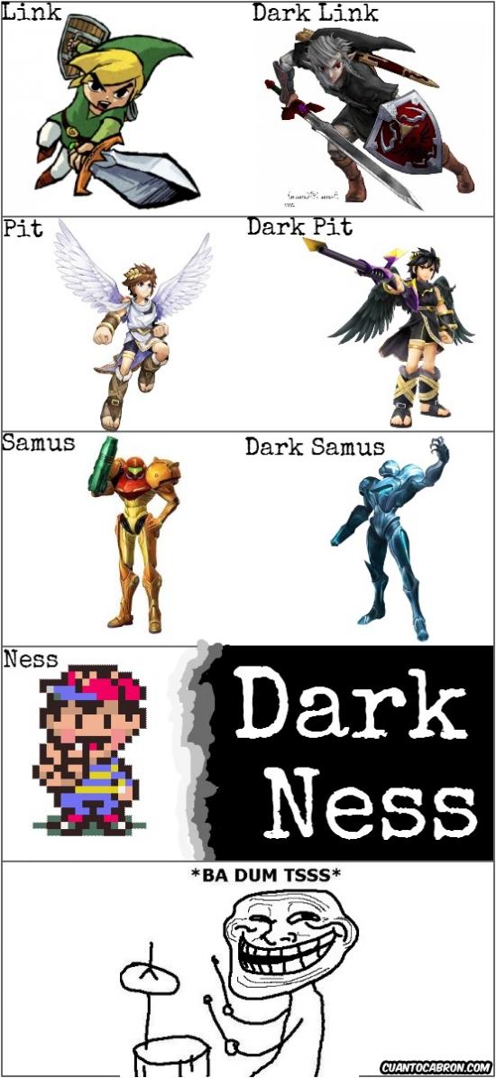 Trollface - Los personajes de Nintendo y su versión oscura